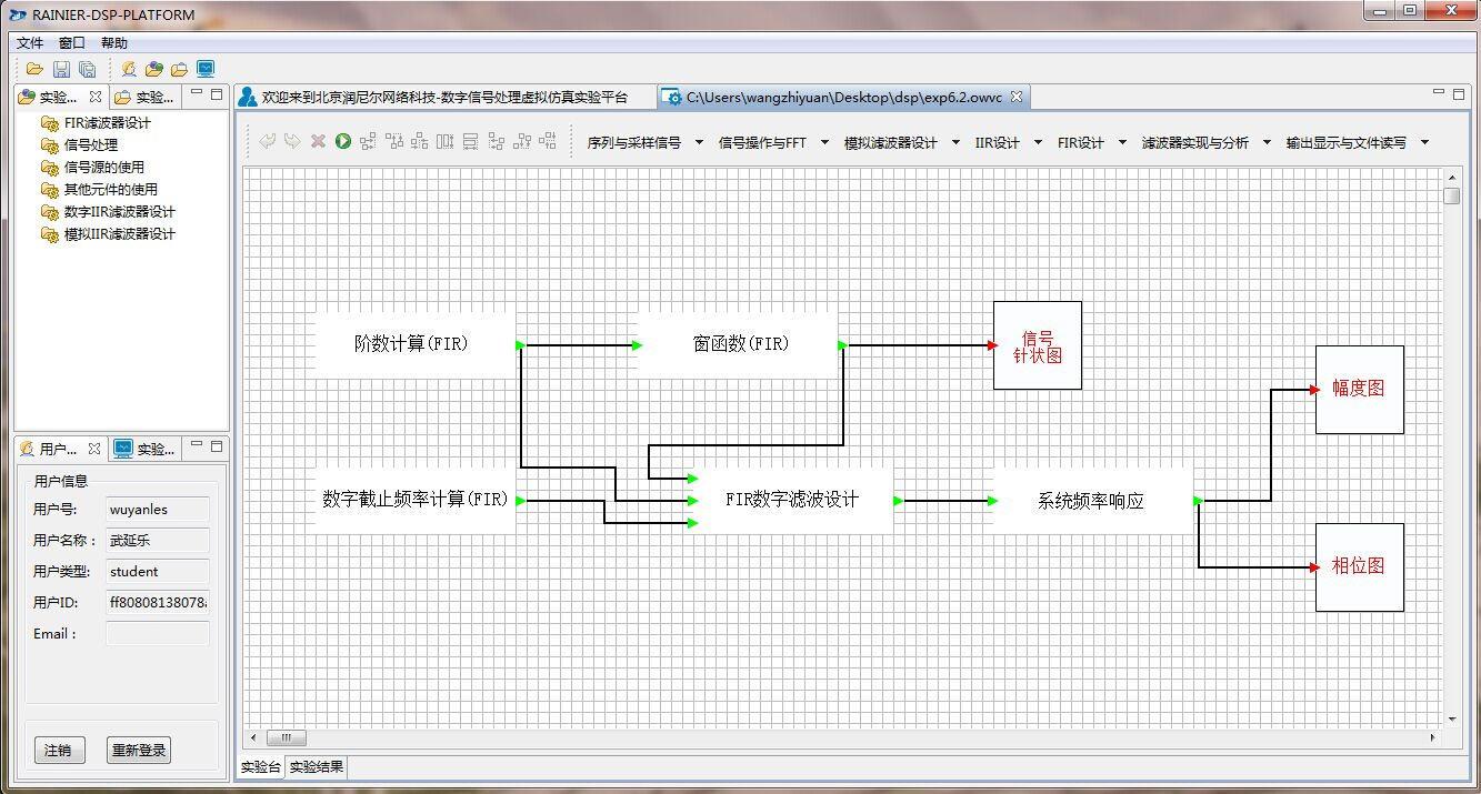数字信号处理虚拟实验教学系统